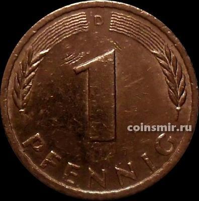 1 пфенниг 1981 D  Германия ФРГ.