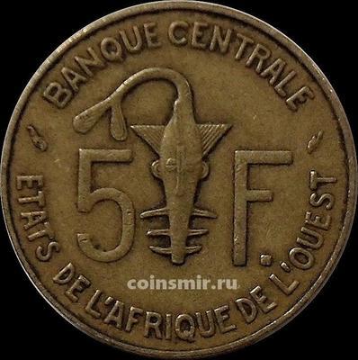 5 франков 1978 КФА BCEAO (Западная Африка).
