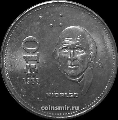 10 песо 1989 Мексика.