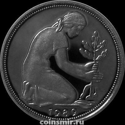 50 пфеннигов 1989 G Германия (ФРГ). Пруф.