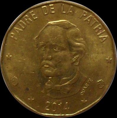 1 песо 2014 Доминиканская республика.