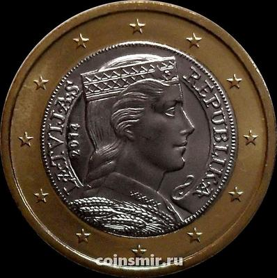 1 евро 2014 Латвия.