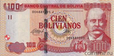 100 боливиано 1986 (2015-2016) Боливия.