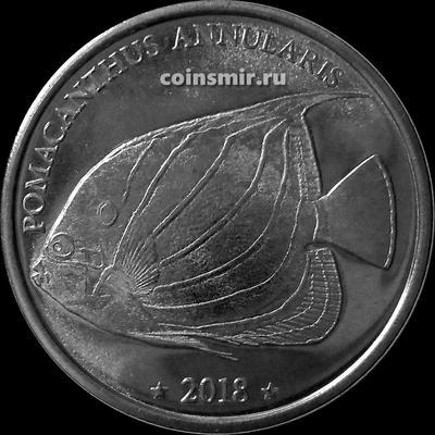 10 франков 2018 Западное Самоа. Ангел Кольчатый (Pomacanthus annularis).