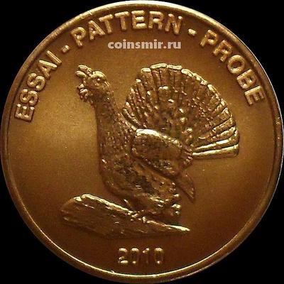 2 евроцента 2010 Эстония. Глухарь. Европроба. Xeros-ceros.