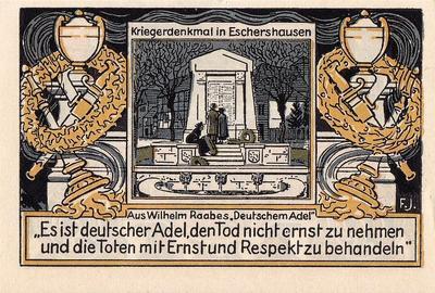 75 пфеннигов 1921 Германия. г. Эшерсхаузен (Нижняя Саксония). Нотгельд.