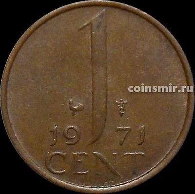 1 цент 1971 Нидерланды. Петух.