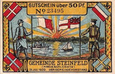 50 пфеннигов 1920-1921 Германия Коммуна Штейнфельд (Мекленбург-Нижняя Померания). Нотгельд.