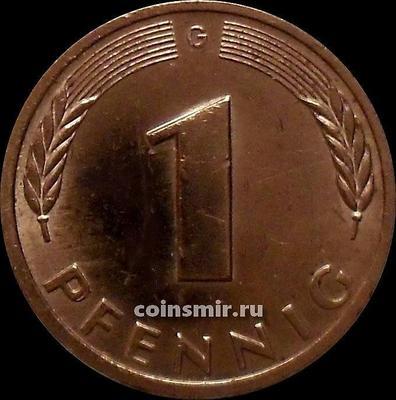 1 пфенниг 1978 G  Германия ФРГ.