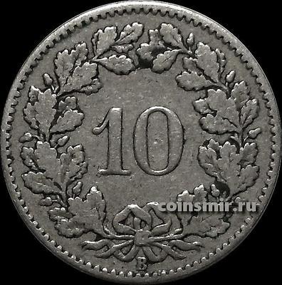 10 раппенов 1879 Швейцария.