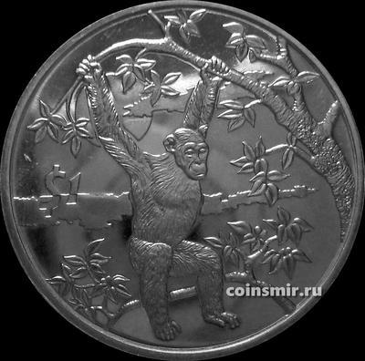 1 доллар 2006 Сьерра-Леоне. Шимпанзе.