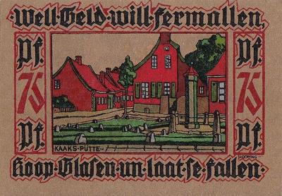 25 пфеннигов 1921 Германия г.Лер (Нижняя Саксония). Нотгельд.