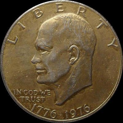 1 доллар 1976 США. Эйзенхауэр. 200 лет независимости. С покрытием.