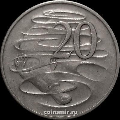 20 центов 1968 Австралия. Утконос.
