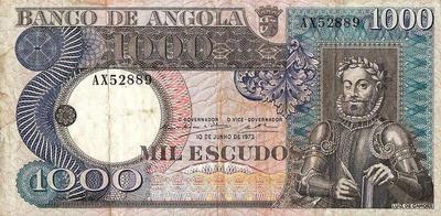 1000 эскудо 1973 Ангола.