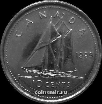 10 центов 1999 Канада. Парусник.