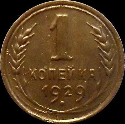1 копейка 1929 СССР.