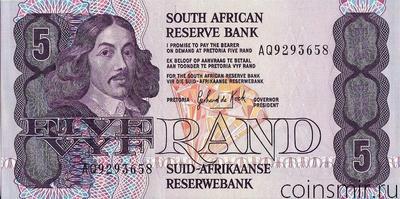 5 рандов 1978-1994 Южная Африка.