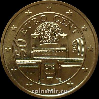 50 евроцентов 2008 Австрия. Венский Сецессион.