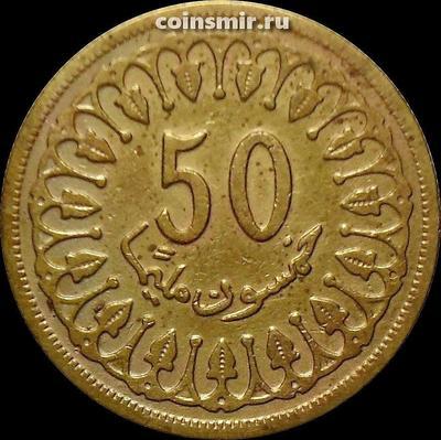 50 миллим 1960 Тунис.