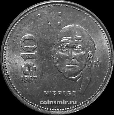 10 песо 1987 Мексика.
