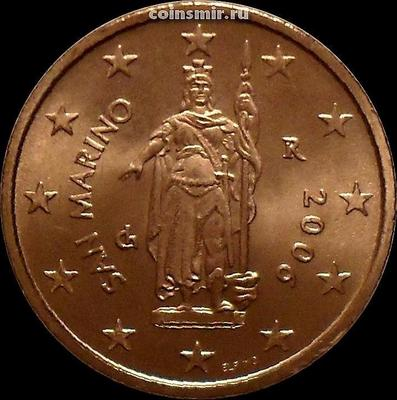 2 евроцента 2006 Сан-Марино. Статуя Свободы.