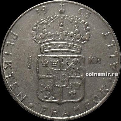 1 крона 1963 Швеция.