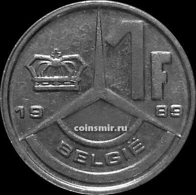 1 франк 1989 Бельгия. BELGIE.