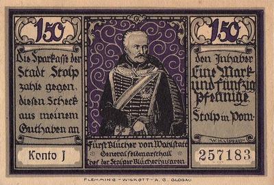 1,5 марок 1921 Германия. г. Штольп (Силезия). Нотгельд.