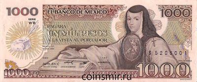 1000 песо 1984 Мексика.