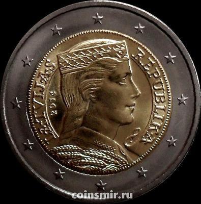 2 евро 2014 Латвия.