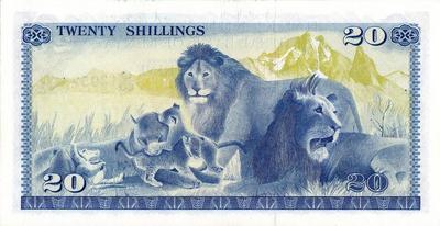 20 шиллингов 1978 Кения.