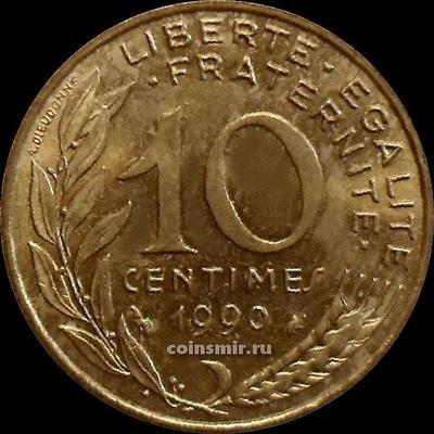 10 сантимов 1990 Франция.