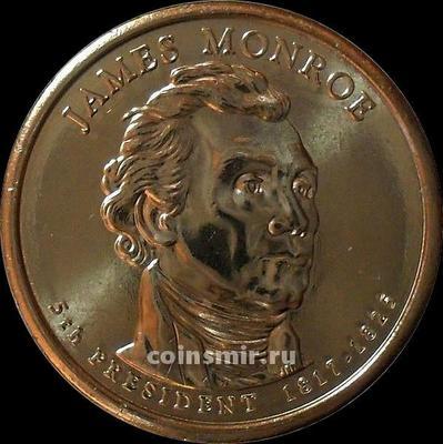 1 доллар 2008 D США. 5-й президент США Джеймс Монро.