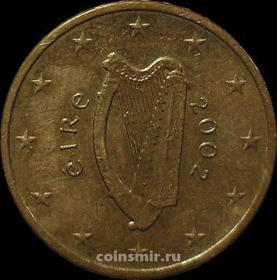 10 евроцентов 2002 Ирландия. Кельтская арфа. VF