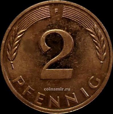 2 пфеннига 1982 F Германия (ФРГ).