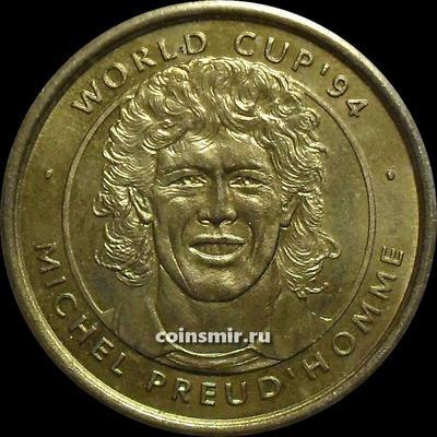 Жетон. Чемпионат мира по футболу 1994 в США. Мишель Прюдомм.
