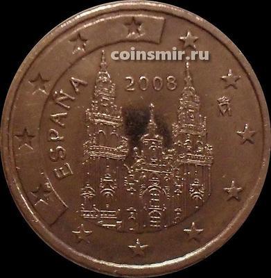 5 евроцентов 2008 Испания. Кафедральный собор Святого Якова.
