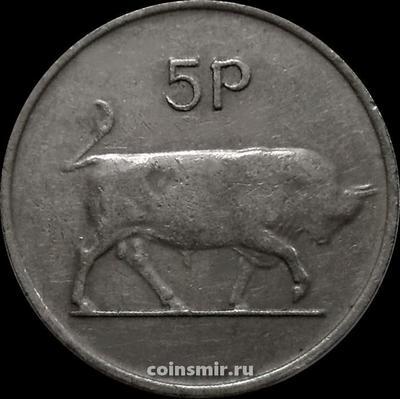 5 пенсов 1976 Ирландия. Бык.