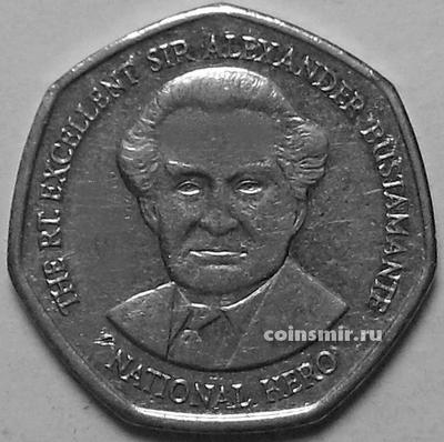 1 доллар 1996 Ямайка. Александр Бустаманте.