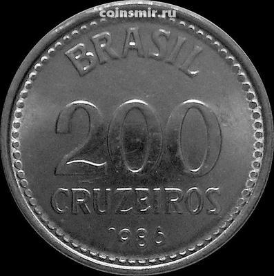 200 крузейро 1986 Бразилия.