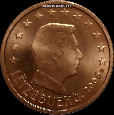 2 евроцента 2006 Люксембург. Великий герцог Люксембурга Анри.