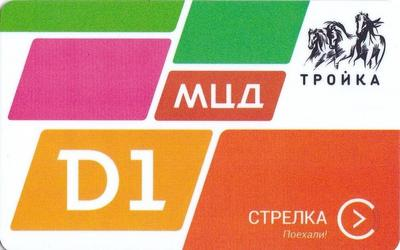 Карта Тройка - Стрелка 2019. МЦД D1