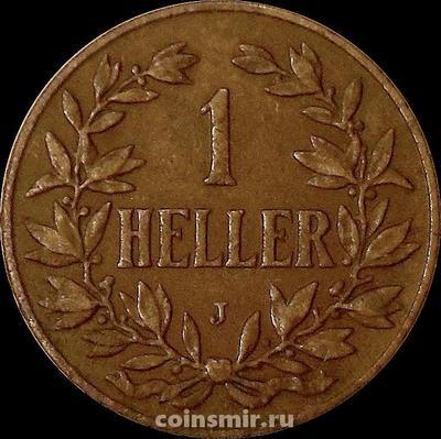1 геллер 1907 J Германская Восточная Африка.
