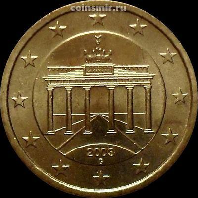 50 евроцентов 2003 G Германия. Бранденбургские ворота.