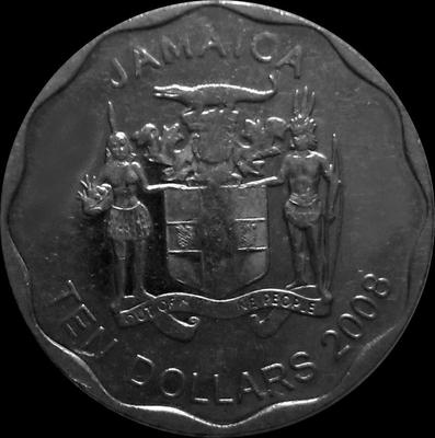 10 долларов 2008 Ямайка.