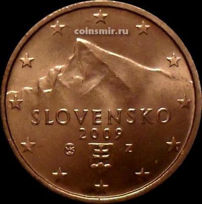 2 евроцента 2009 Словакия. Гора Кривань.