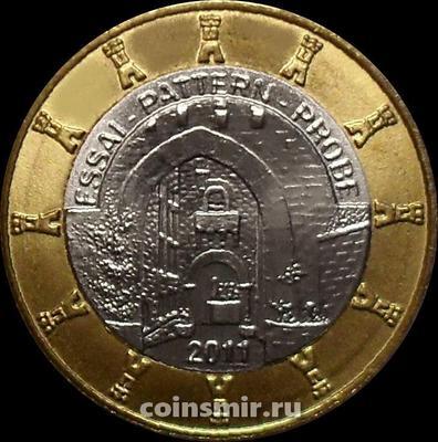 1 евро 2011 Сан-Марино. Европроба. Xeros.