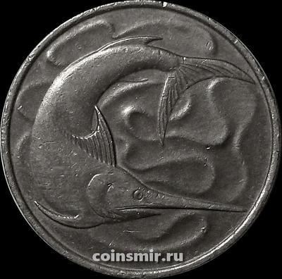 20 центов 1976 Сингапур. Рыба-меч.