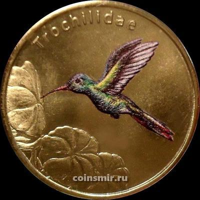 1 доллар 2021 Сан-Феликс. Колибри. Птицы мира.